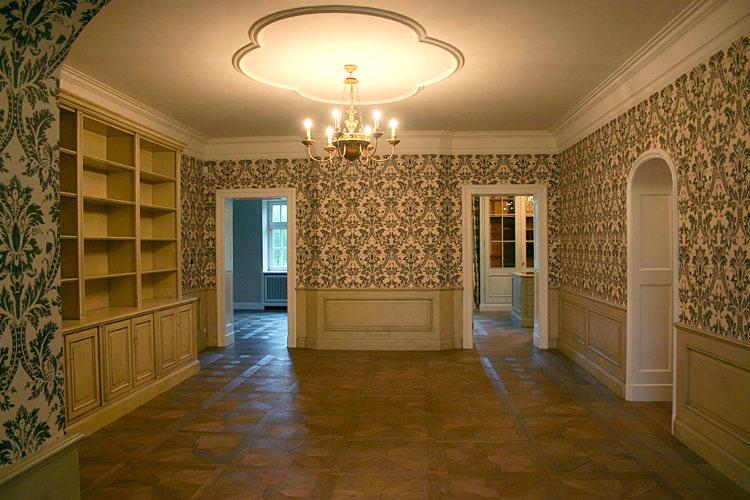 hand gemalte streifen wohnen k che bad flur. Black Bedroom Furniture Sets. Home Design Ideas