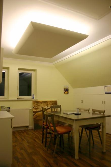 Indirekte Beleuchtung Dachschräge stuck profile hartschaum dachschrä schattenfugen